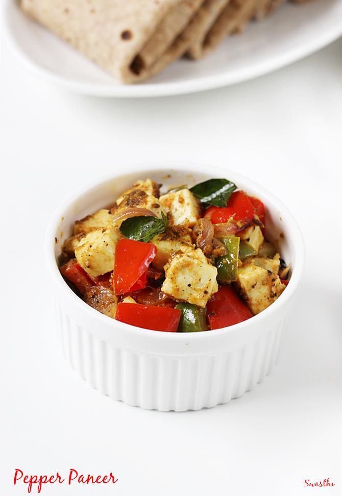 simple paneer pepper fry recipe