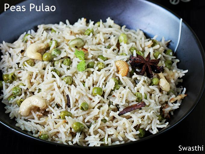 Peas Pulao Recipe Video How To Make Matar Pulao Green