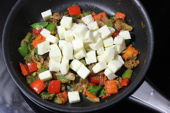 Add tiny cubes of paneer