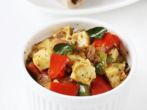 pepper paneer recipe   paneer pepper fry