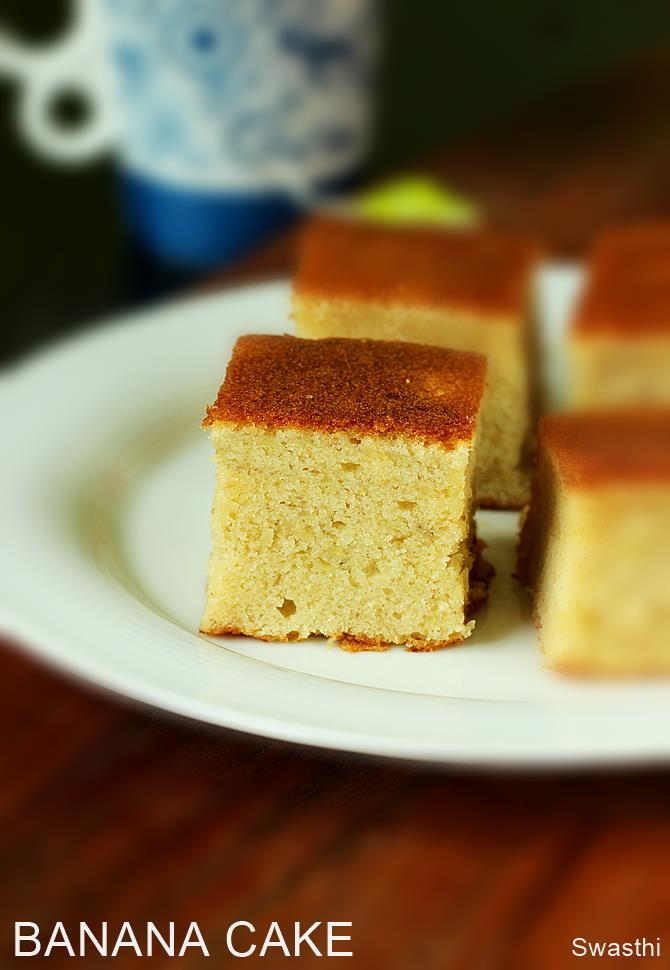 Easy And Best Moist Banana Cake