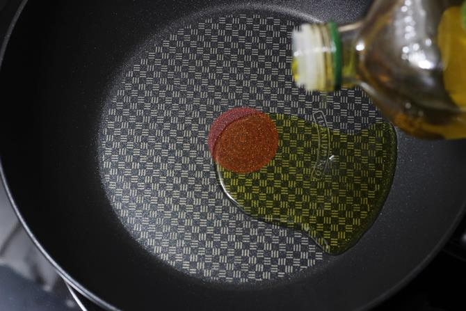 olive oil to make cabbage fried rice