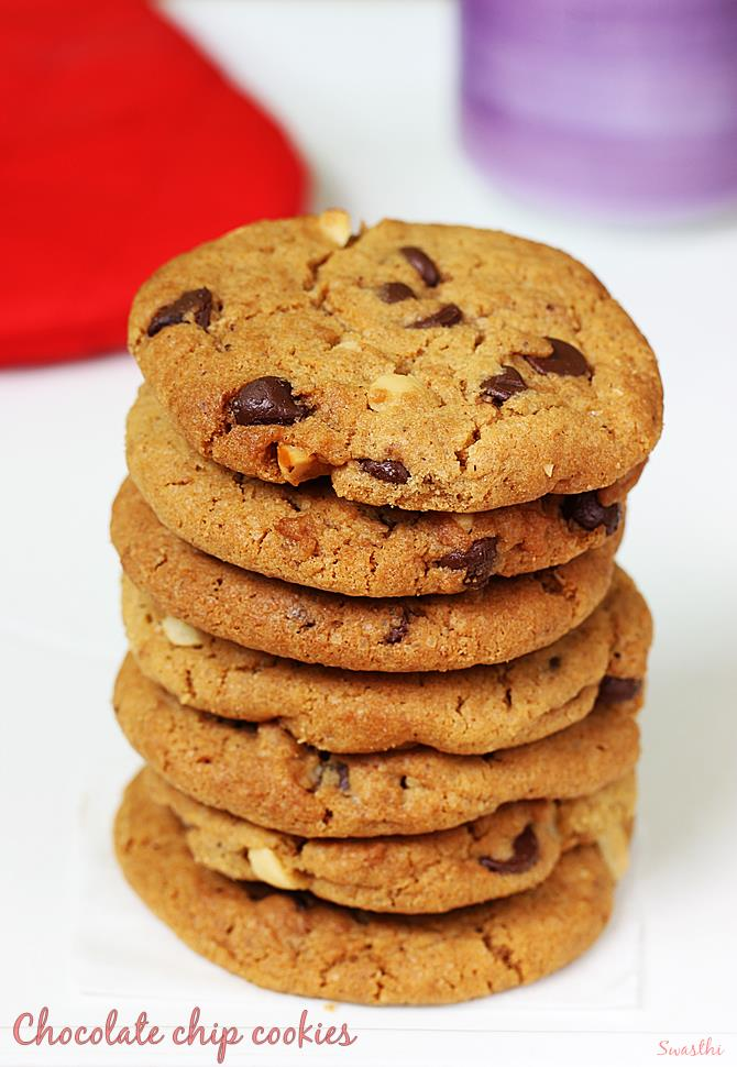 chocolate chip cookies recipe using whole wheat flour