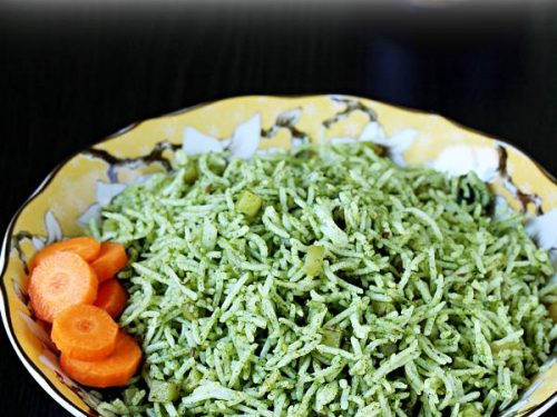palak rice spinach rice