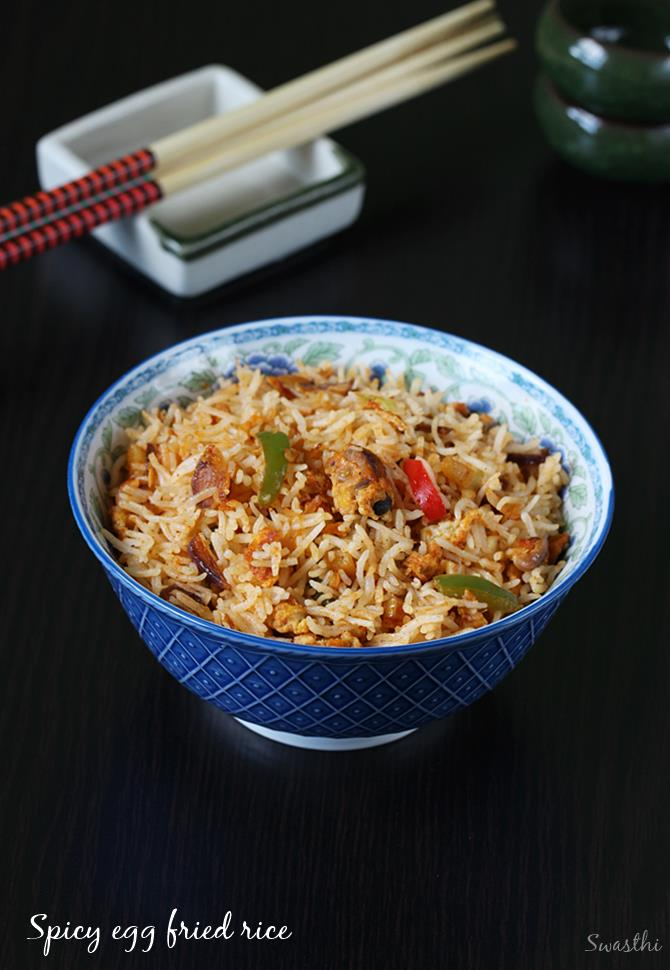 Egg rice recipe how to make egg rice spicy schezwan egg fried rice schezwan egg fried rice ccuart Images