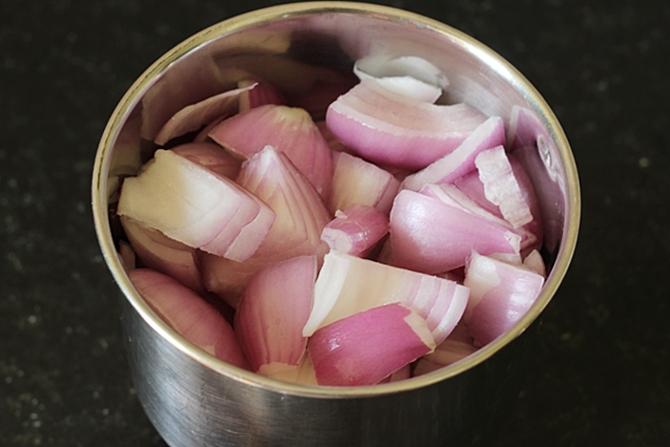 blending onions