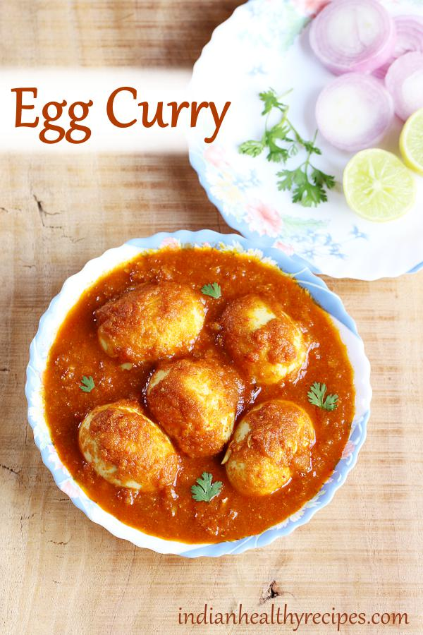 Spicy egg curry - simple, delicious, great on flavors & super quick to make. Serve with rice, naan, roti or bread #egg #eggcurry #curry #eggcurryrecipe