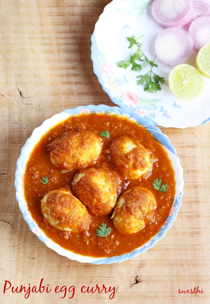 Egg recipes 55 best easy indian egg recipes anda recipes punjabi egg curry recipe with step by step photos made in dhaba style this anda curry is exceptionally good when you are not in a mood to cook something forumfinder Images