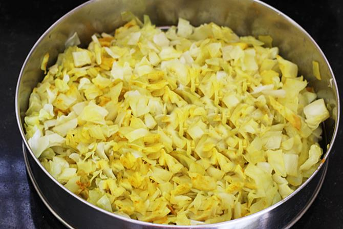 steaming cabbage for curry