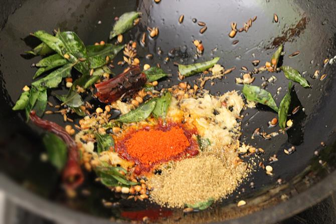 Add red chili powder