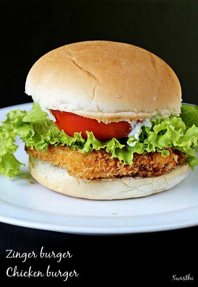 Chicken burger recipe | Zinger burger recipe