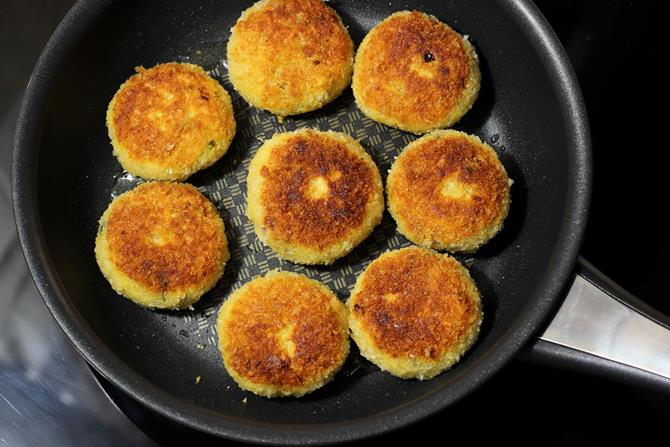 golden fried patties in chicken cutlet recipe