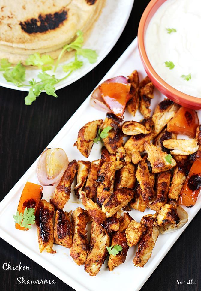chicken shawarma recipe with tahini sauce