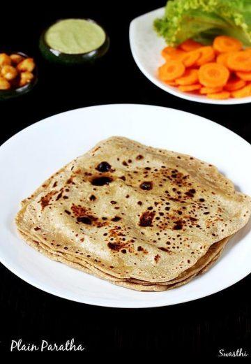 Paratha recipe | How to make plain paratha recipe | Atta paratha