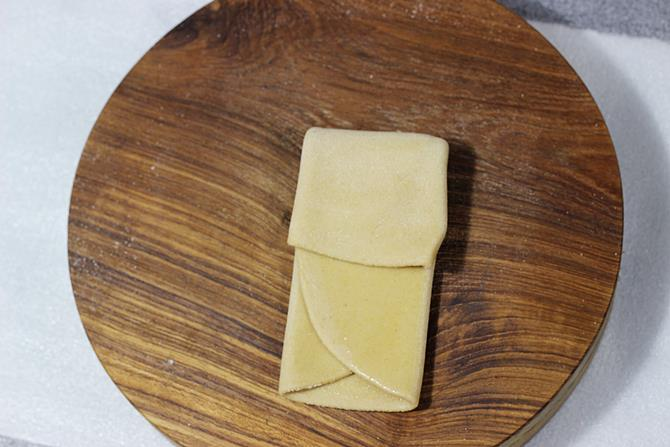 repeat folding for layers to make paratha recipe