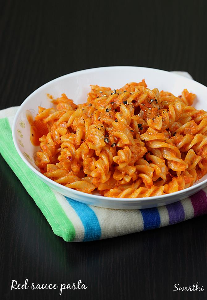 Red Sauce Pasta Recipe Pasta In Red Sauce Recipe For Kids Amp Toddlers