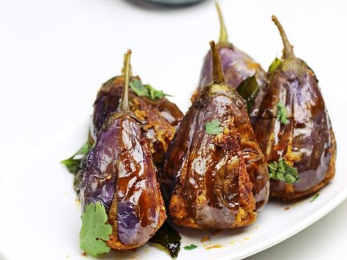 Stuffed brinjal fry | Gutti vankaya fry | Andhra style brinjal fry