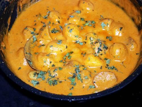 addition of kasuri methi to dum aloo recipe