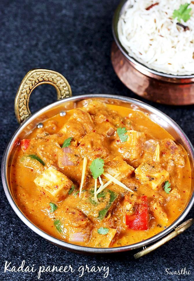 Kadai paneer recipe how to make kadai paneer gravy paneer recipes kadai paneer gravy recipe forumfinder Gallery