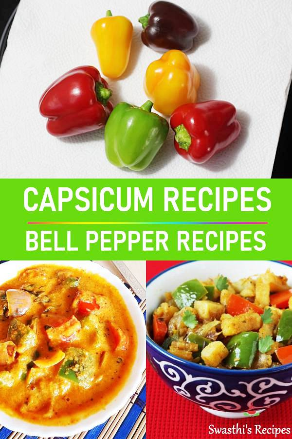 Capsicum recipes | 27 Indian capsicum recipes (Bell pepper recipes)