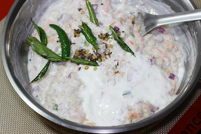 tempered curd oats recipe