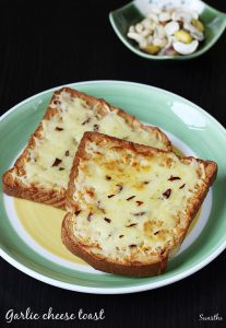 Garlic cheese toast recipe | Cheese garlic bread recipe on tawa & oven