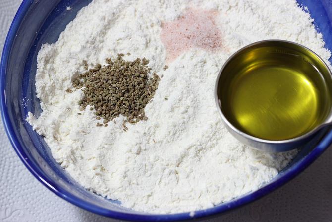 plain flour carom seeds for samosa
