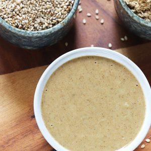 Tahini recipe | How to make tahini | How to make sesame paste at home