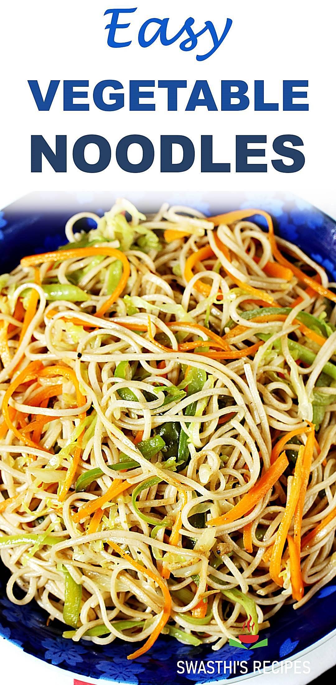 Veg noodles recipe (Vegetable noodles)