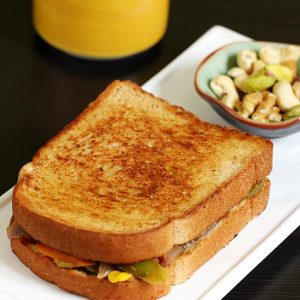 Veg sandwich recipe |  Simple easy vegetable sandwich recipe on tawa
