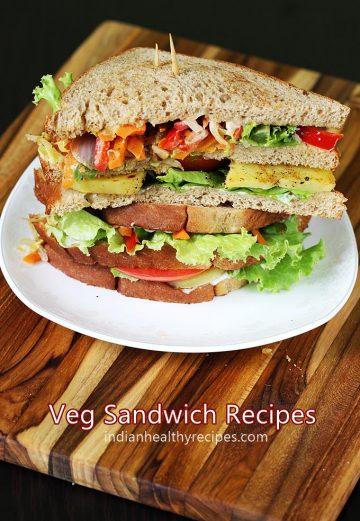 Veg sandwich recipes | 16 simple easy vegetable sandwich recipes