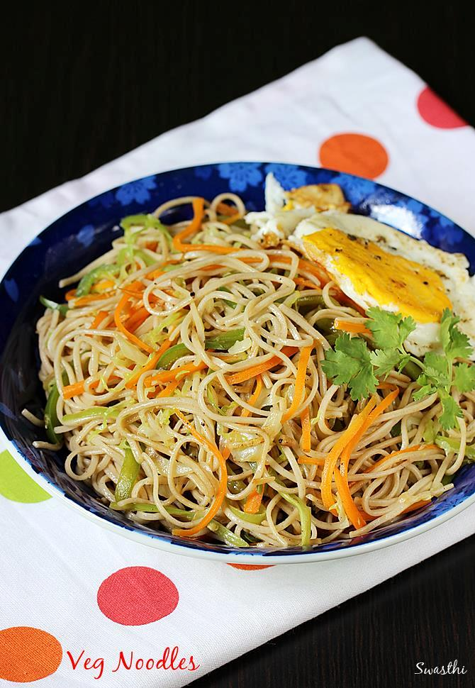 Veg noodles recipe | How to make noodles recipe without sauce