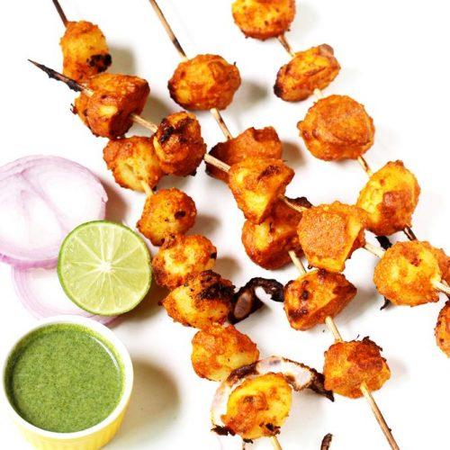 Aloo tikka | Tandoori aloo tikka | Tandoori potatoes