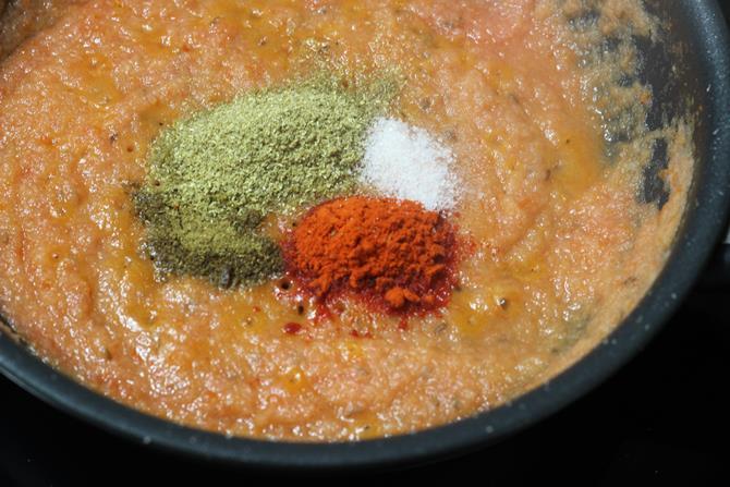 sauteing tomato puree