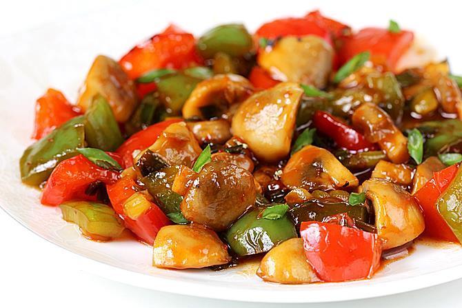 chilli mushroom stir fry