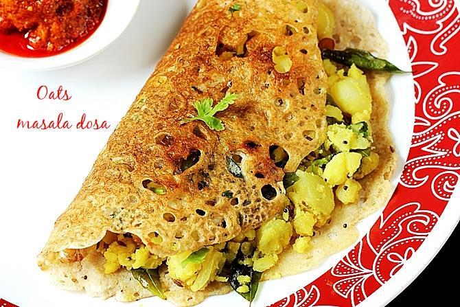 Oats recipes 32 easy indian oats recipes quick oatmeal recipes oats masala dosa south indian style crispy dosa made with oatmeal and spiced potato stuffing these are great to have for brunch or dinner forumfinder Images