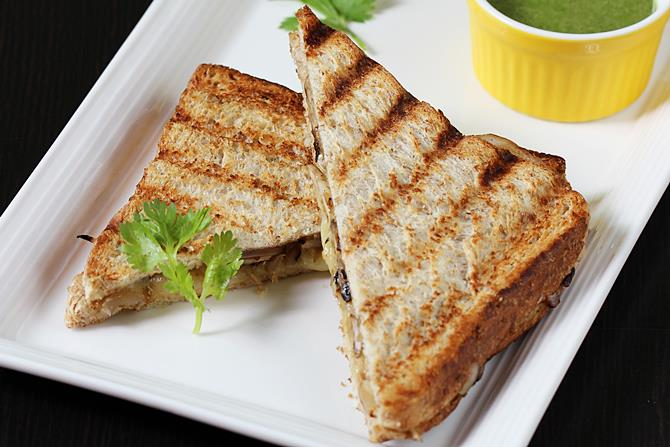 grilled mushrom sandwich recipe