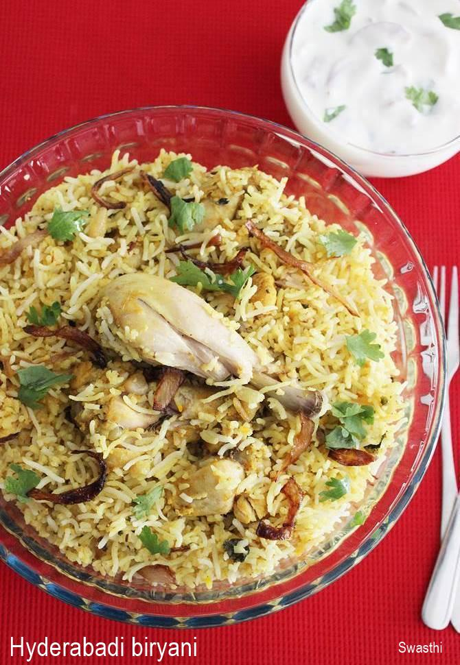 Hyderabadi biryani recipe restaurant style chicken dum biryani chicken hyderabadi biryani recipe forumfinder Image collections