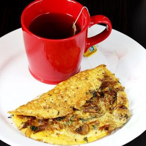 Mushroom omelette recipe | How to make mushroom omelet recipe