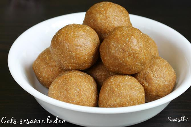 oats sesame ladoo recipes