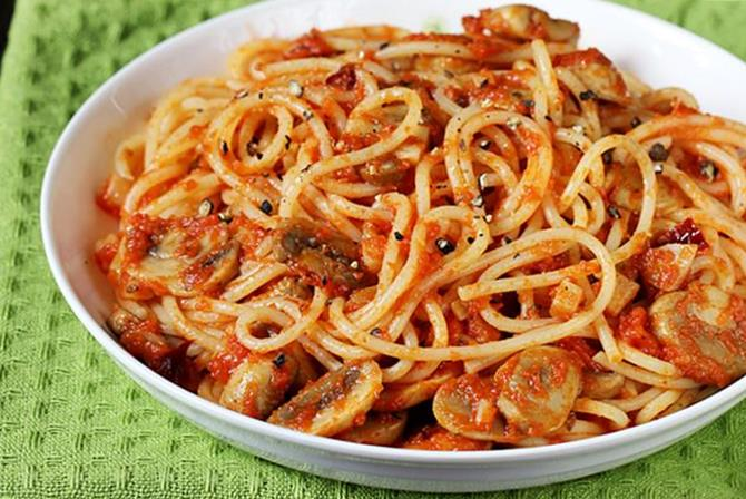 spaghetti recipe with mushrooms