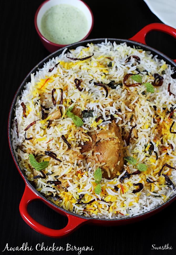 Lucknowi chicken biryani recipe