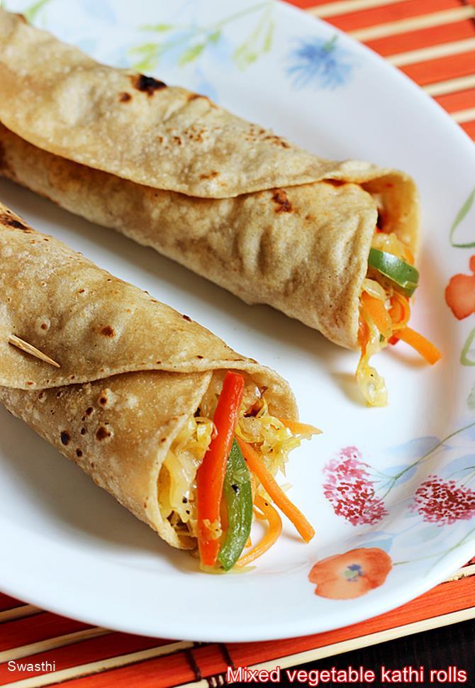 veg kathi roll recipe