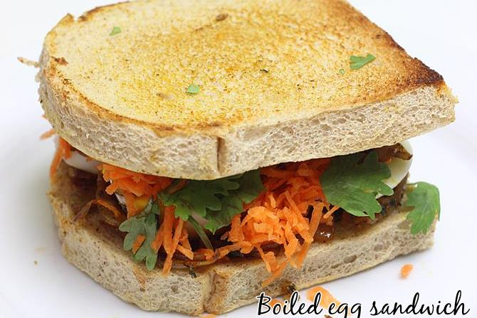 boiled egg sandwich recipe