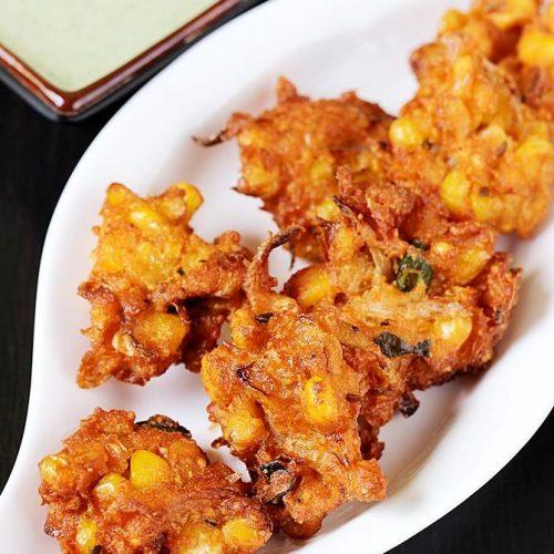 Corn pakoda | Andhra style spicy sweet corn pakoda