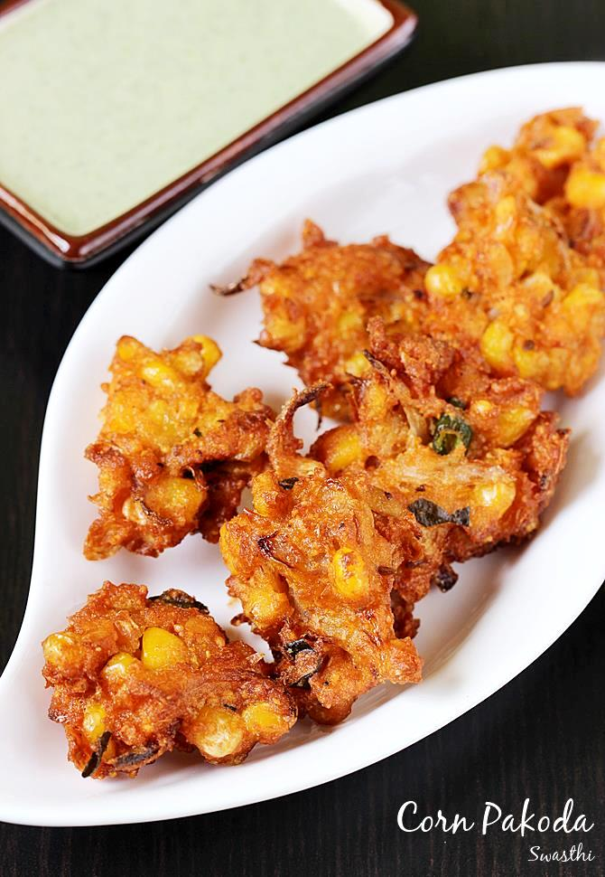 Corn pakoda recipe andhra style spicy sweet corn pakoda they can be eaten on their own or with a chutney or coffee tea or masala chai they can also be eaten as a side with your rasam or sambar forumfinder Choice Image