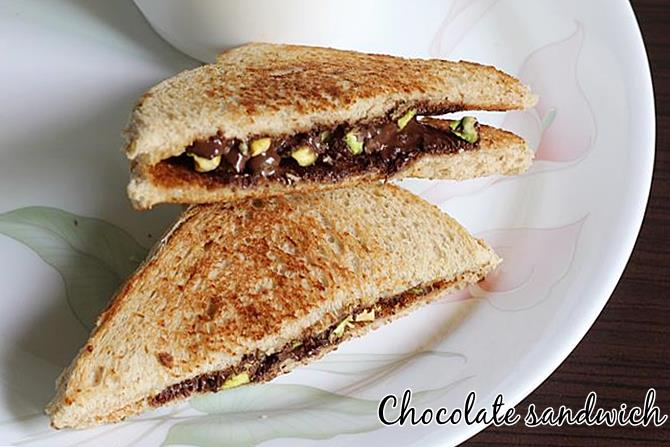 how to make chocolate sandwich