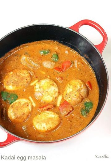 Kadai egg masala recipe | Egg capsicum curry