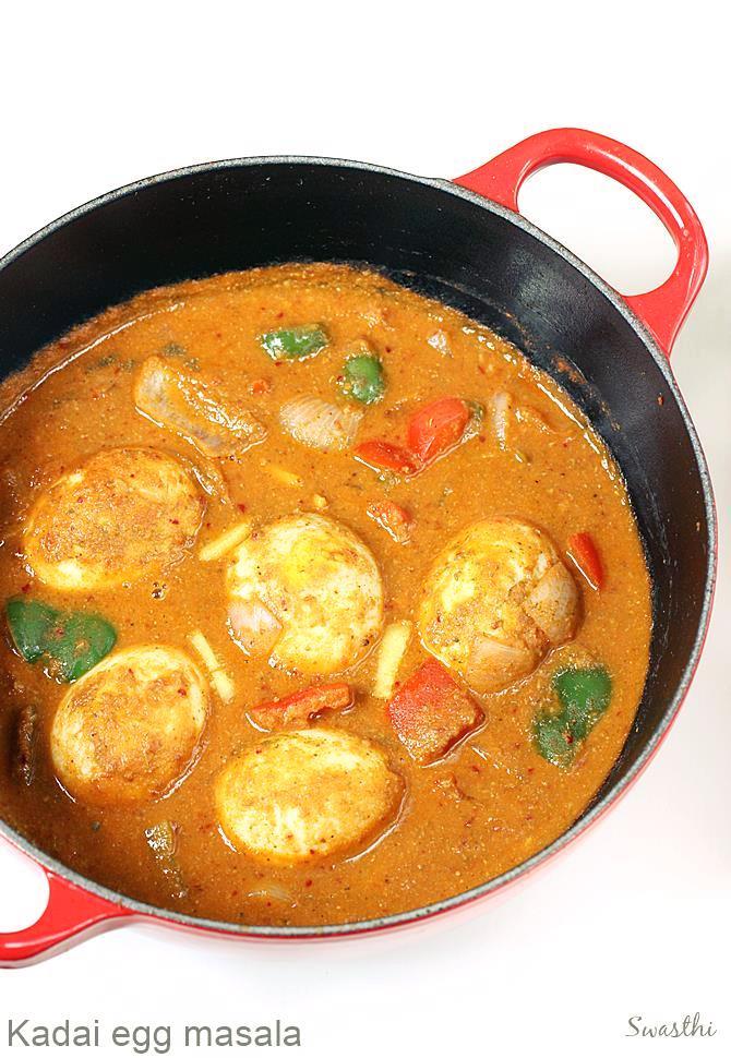 Kadai egg masala recipe egg capsicum curry recipe forumfinder Images