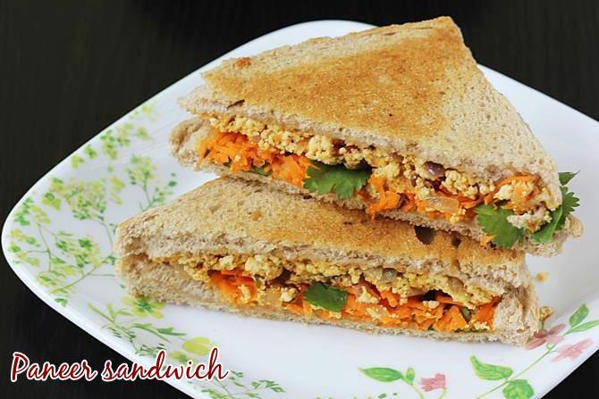 paneer sandwich on tawa or toaster